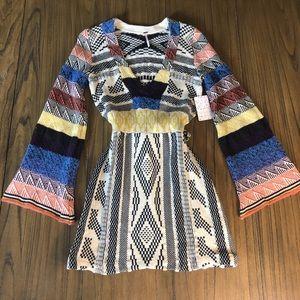 Free People multicolored sweater dress